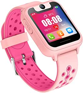 Kids Smart Watches with GPS Tracker Phone Call for Boys Girls Digital Wrist Watch, Sport Smart Watch, Touch Screen Cellphone with Camera Anti-Lost SOS ...