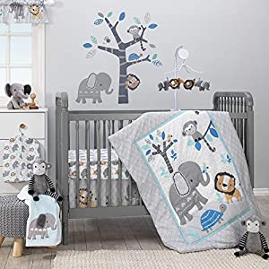 Bedtime Originals Jungle Fun Musical Baby Crib Mobile