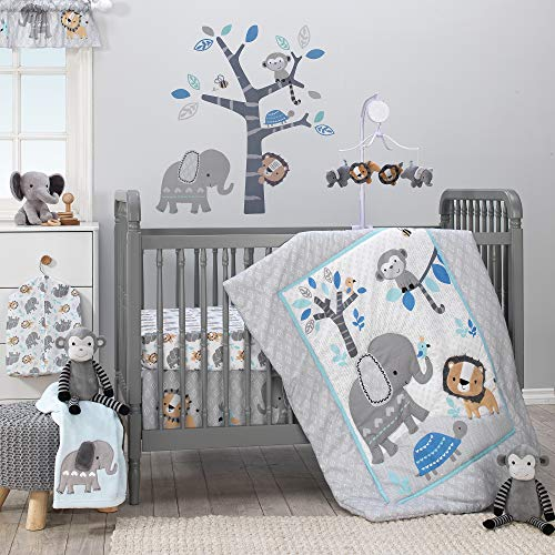 Bedtime Originals Jungle Fun 3-Piece Crib Bedding Set (Bedding Set For Baby Boy Crib)