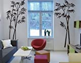 HPG 1 X Hotportgift Bamboo Mural Home Decor Decals Decorative Removable Craft Art Wall Stickers Black, OneSize Picture