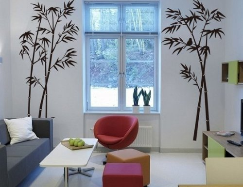 HPG 1 X Hotportgift Bamboo Mural Home Decor Decals Decorative Removable Craft Art Wall Stickers Black, OneSize
