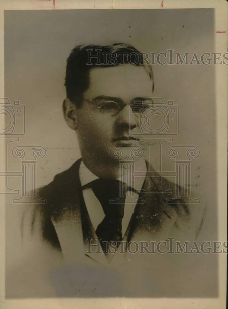 Historic Images -Press Photo Herbert Hoover as a Young Man - sax11843