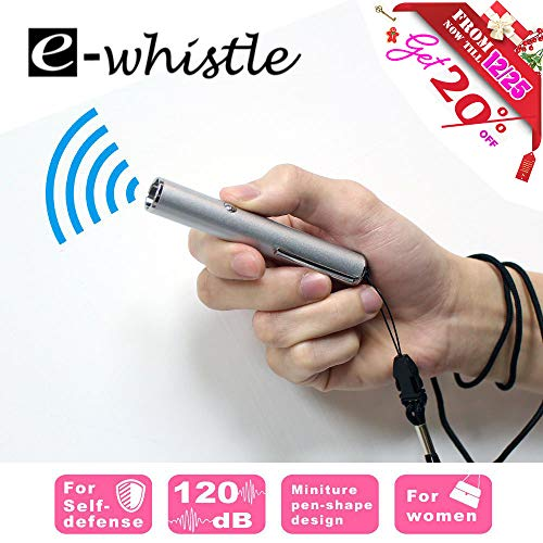 e-whistle Electronic Whistle | for Hiking, Camping, Self Defence, Sports Activity | Super Loud Up to 120dB (1 - Whistle Loud Super