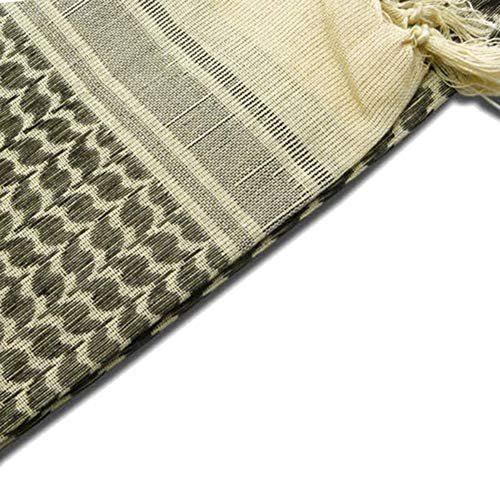 Wingbind 100% Cotton Shemagh Tactical Desert Scarf Wrap, Military Thickened Keffiyeh Arab Tessel Scarf Wrap for Women and Men by Wingbind (Image #3)