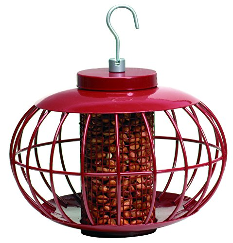 Red Peanut Feeder - The Nuttery NT050 Classic Peanut/Sunflower Seed Feeder