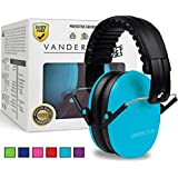 Vanderfields Earmuffs for Kids Toddlers Children - Hearing Protection Ear Defenders for Small Adults Women - Foldable Design Ear Defenders Adjustable Padded Headband Noise Reduction
