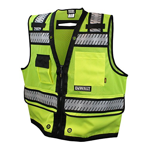 DEWALT DSV521-2X Class 2 Heavy Duty Surveyor Vest, 2X-Large (Surveyors Vest Safety)