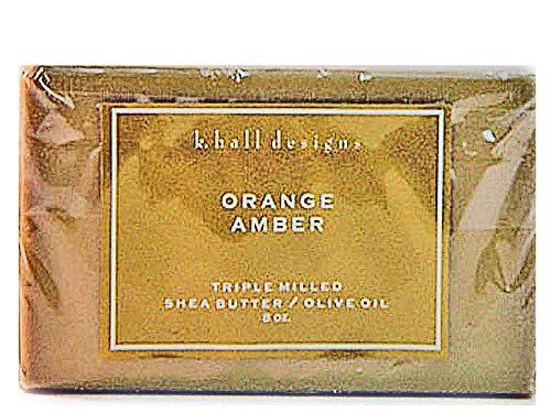 K. Hall Designs Orange Amber Triple Milled Shea Butter/Olive Oil Bar Soap 8oz