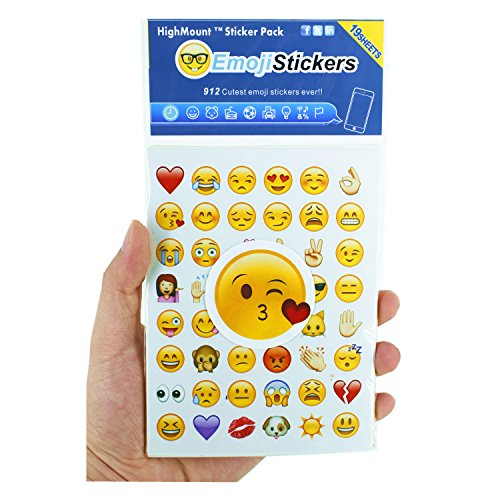 Happy Emoji Stickers 19 Sheets with Emojis Faces Kid Stickers from iPhone Facebook Twitter