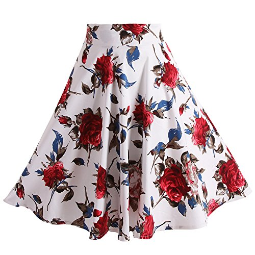 Fancyqube Pleated Vintage Skirts Floral product image