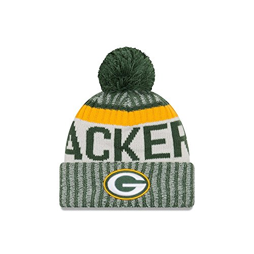 New Era Green Bay Packers 2017 On-Field Sport Knit Beanie Hat/Cap