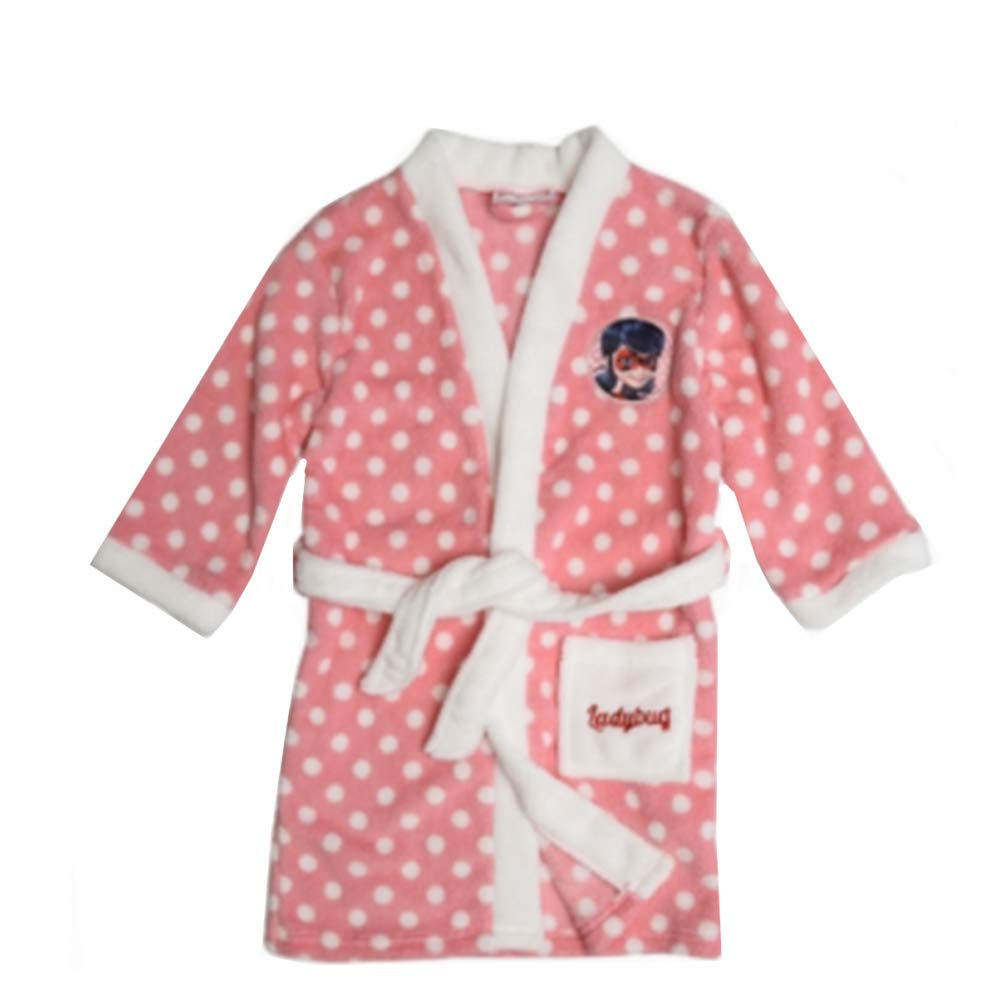 NPZ Albornoz - Vestido de cámara Miraculous Ladybug Rosa tamaño de 3 a 8 años, Rosa, 4 años: Amazon.es: Hogar