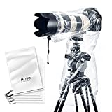 "Movo (5 Pack) RC1 Clear Rain Cover for DSLR Camera and Lens up to 18"" Long"