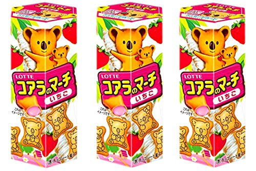 Japanese Lovely Biscuit, Koala march Strawberry, Set of 3 packs. No.a207