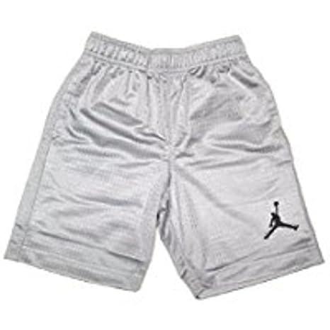 c38f25cfe9f7 Amazon.com   Jordan Boys (8-20) Nike Mesh Jumpman Basketball Shorts-Gray M  Medium   Sports   Outdoors