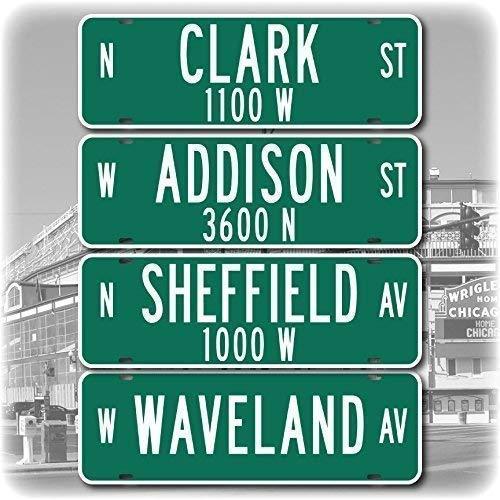 Streets of Wrigley Field - Replica Street Signs