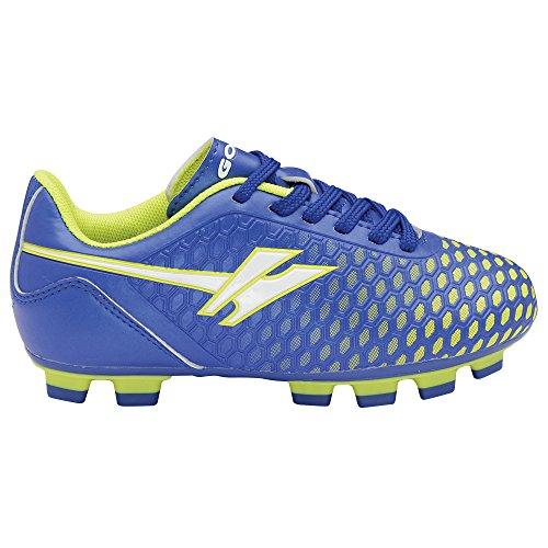 Gola Sport - Botines de fútbol modelo Boys Ativo 5 Ion Blade para niños/jóvenes Azul/Voltio