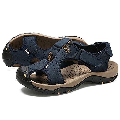 Indossabili 47 Sneakers punta Uomo Da Spiaggia Estate Chiuso Regolabile 38 Scarpe Casual Size Blue Pantofole Trekking Traspirante Yra Sandali Plus Da Outdoor qRt76