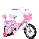 Xiao ping Children's Bicycles, 3-8 Year Old Girl Cycling, Kids Tricycle, With Rear Seat With Guardrail (Color : Red 12 Inch)