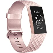 Vancle Band Compatible with Fitbit Charge 3 Bands Replacement for Women Men, Classic Sport Accessory Replacement Watch Wristband for Fitbit Charge 3 Special Edition and Fitbit Charge 3