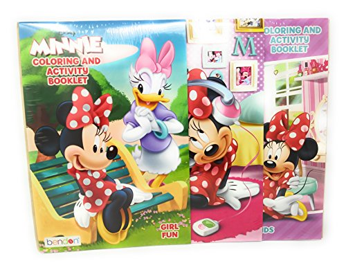 Kids Summer Fun Indoor Playtime Color Activity Coloring Booklet Extreme Fun Bowtique Minnie Mouse