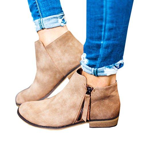 Huiyuzhi Womens Slip On Top geraffte Knoten Flatform Fashion Sneakers Z-khaki