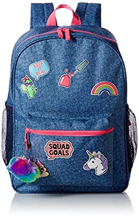 The Children's Place Girls' Backpack, Denim, One Size