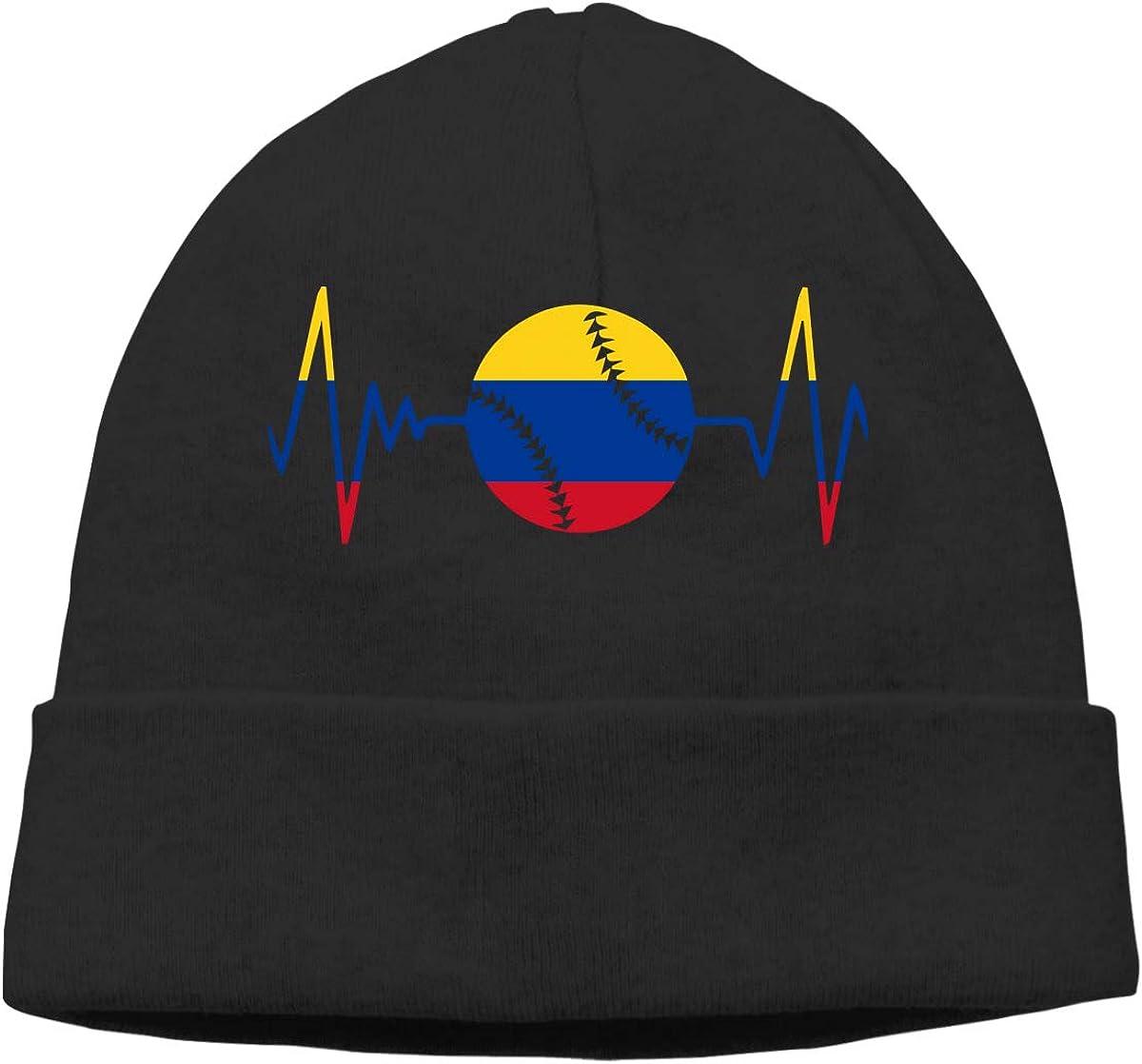 Colombia Flag Baseball Softball Lace Men Women Quick Dry Winter Ski Beanie Cap