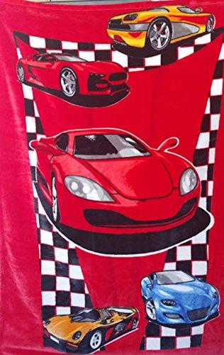 "MiCasa Osaka Mink Plush Soft Baby Blanket Red Cars color 40""x55"" from MiCasa"