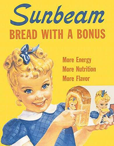 (Sunbeam Bread Little Miss Sunbeam Retro Vintage Tin Sign)