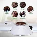 NutriChef PKFNMK14.101 Fondue Chocolate Melting Warming Set, Black