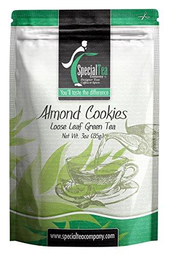 Almond Sweet Cookies - Special Tea Loose Leaf Green Tea, Almond Cookies, 3 Ounce