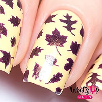 Amazon Whats Up Nails Leaves Nail Stencils Stickers Vinyls