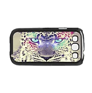 Colorful Cheetah with Blue Eyes Hard Snap on Phone Case (Galaxy s3 III)