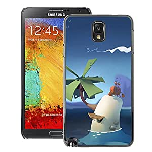 A-type Arte & diseño plástico duro Fundas Cover Cubre Hard Case Cover para Samsung Note 3 N9000 (Poly Cute Art Palm Tropical Sky Kids Pc)