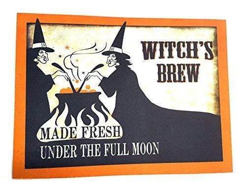 """Halloween Scary Spooky Coir Door Mat Indoor/ Outdoor 18 in. x 24 in.""""Witch"""