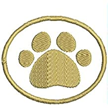 Paw Print Sew on Patch Embroidered Iron on Pet Patches Applique
