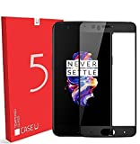 Case U OnePlus 5 Full Coverage 4D Tempered Glass Screen Protector-Black [Limited Time Discount Offer]
