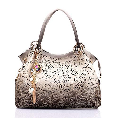 Louis Vuitton Zippy Organizer - Chibi-store women bag hollow out ombre handbag floral print shoulder bags ladies,Gray,(30cm-Max Length-50cm)