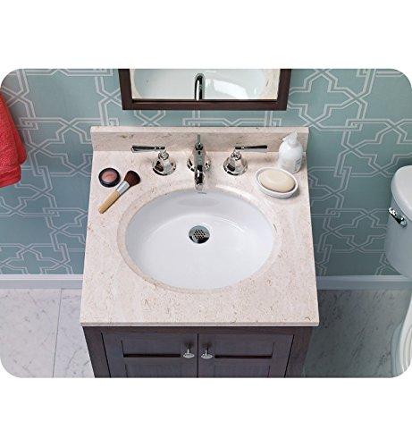 "19"" Halo Oval Ceramic Undermount Bathroom Sink in White"