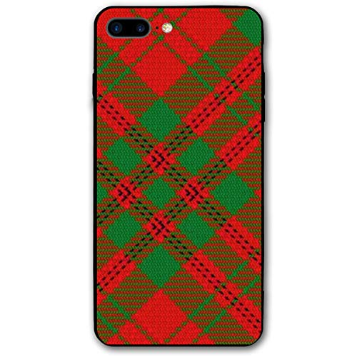 Scots Style Clan Livingstone Tartan Plaid iPhone 7plus 8plus 7/8 Plus Phone Case Cover Theme Decorative Mobile Accessories Ultra Thin Lightweight Shell Pattern Printed