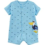 Carter's Baby Boys' Pelican Snap-up Cotton Romper 12 Months