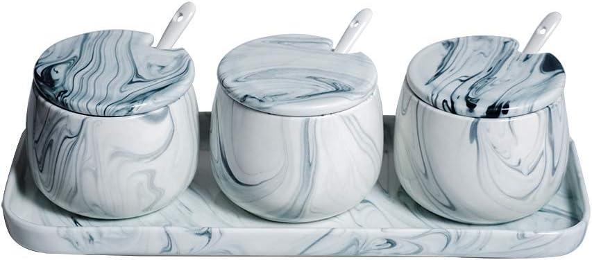 conception adroite produits de commodité forme élégante Hetoco Sucrier Marbre Sucrier Céramique avec Couvercle et ...