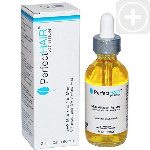 Идеально подходит для волос Миноксидил 5% Лечение для мужчин - Облысение / роста волос Миноксидил Расширение с биотин, масло эму, кофеин, экстракт зеленого чая Экстракт и естественных травяных запатентованную смесь DHT окон, - 2 унции / 60 мл в течение од