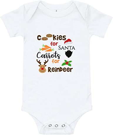 Cheeky Apparel Cookies for Santa Carrots for Reindeer Toddler Short Sleeve Tee