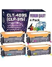 4-Pack 4Benefit Compatible CLT-K409S CLT-C409S CLT-M409S CLT-Y409S CLT-409S Toner Cartridge CLP-315 Used for Samsung CLP-310 CLP-310N 315W CLX-3170FN 3175N CLX-3175 CLX-3175FN Printer (BK/C/M/Y)