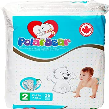 Polar Bear Diaper Size 2, 36 Count