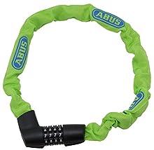 Abus 1385/75 - Candado para bicicleta (75 cm), color verde