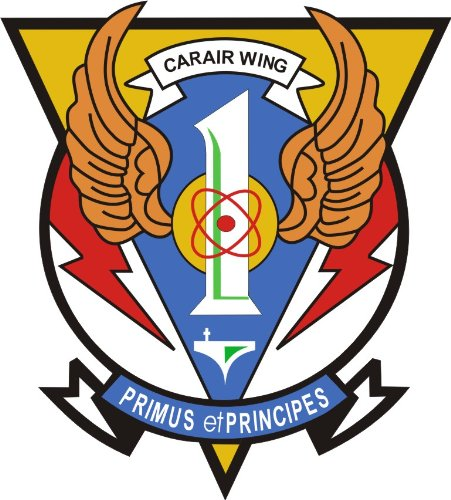 Air Wing Carrier (MilitaryBest US Navy Carrier Air Wing One CVW1 Decal Sticker 3.8