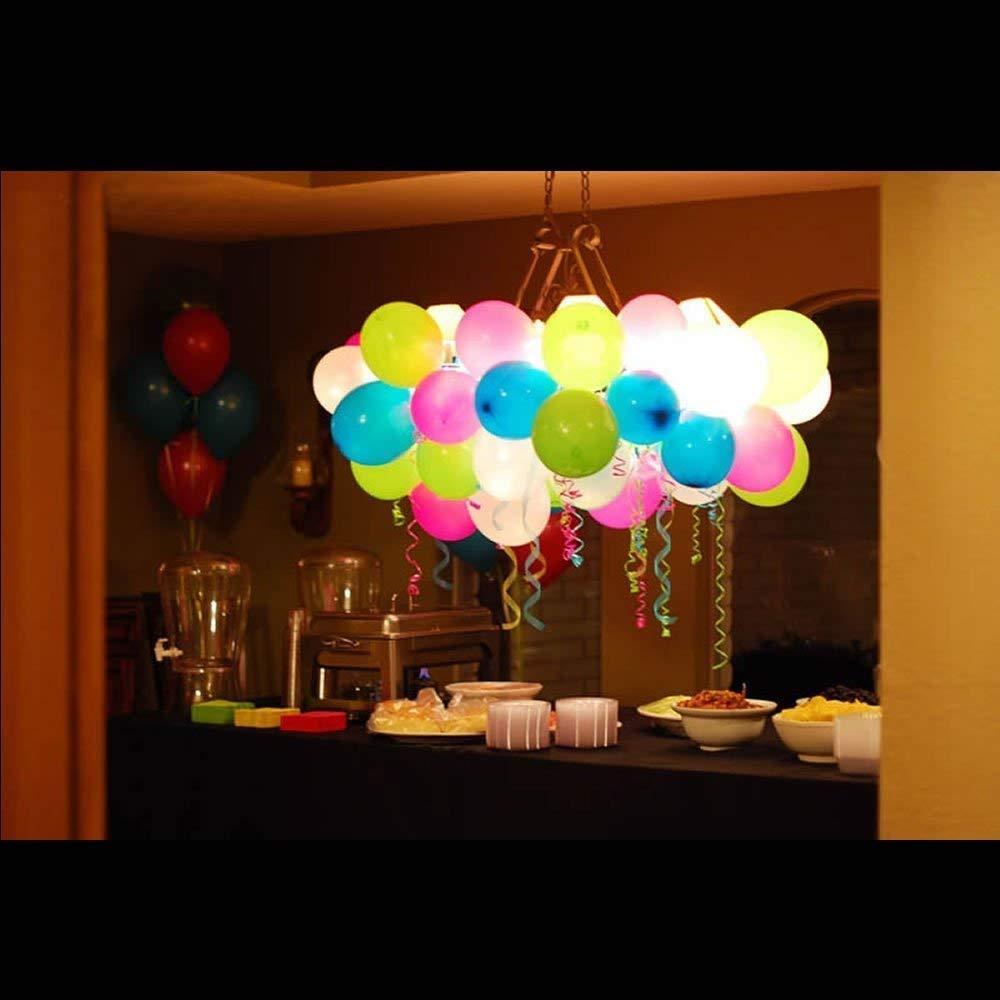 10x White Flash LED Balloon Paper Lantern Light Lamp Birthday Party Wedding